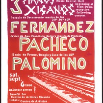 3 Pianos Xicanos, Announcement Poster for