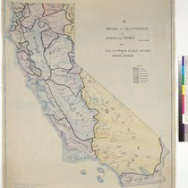 Indians of California by stocks and tribes : and California place names ...