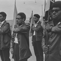 Black Panthers in formation during drill, DeFremery Park, Oakland, CA, #57 from ...