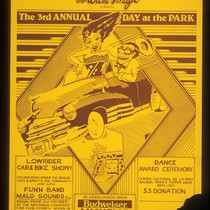 The 3rd Annual Day at the Park, Announcement Poster for