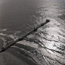 Aerial view of Huntington Pier, Huntington Beach, California: Photograph