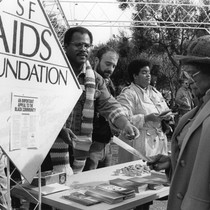 San Francisco AIDS Foundation table at Martin Luther King Jr. memorial celebration