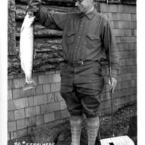 9 1/4 lb. Steelhead caught in June Lake Aug. 1st 1928 by ...