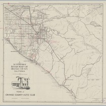 Automobile Road Map of Orange County, Calif