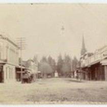 02 Main Street, Bank corners, P. office, M.E. Church and park, Mrs. ...
