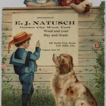 E.J. Natusch Advertising Card, ca. 1900