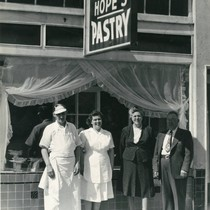 Hope's Pastry at 71 Broadway Boulevard, Fairfax, Marin County, California, circa 1955 ...