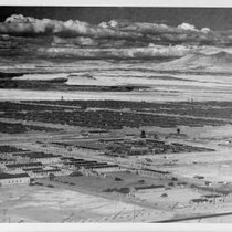 Aerial view of Tule Lake Relocation Center