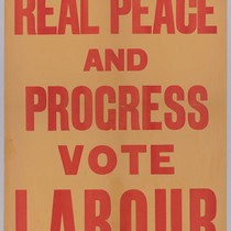 For real peace and progress: Vote Labour
