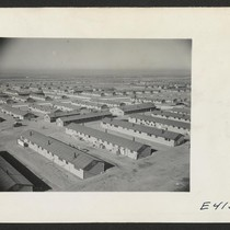 Overlooking the Amache Relocation Center, near Granada, Colorado. In the foreground is ...