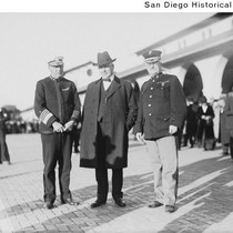 Admiral Hugh Rodman, California Governor William D. Stephens, and General Joseph Pendleton