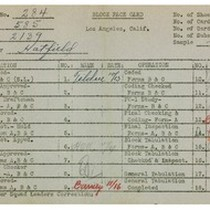 WPA bock face card for household census (block 2139) in Los Angeles ...