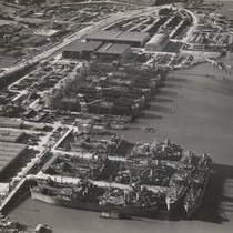 Aerial view of Marinship, Marin County, 1944 [photograph]