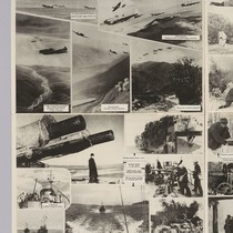 [No title: Soviet photos poster: printed in English: Soviet military in action, ...