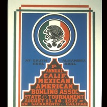 1st Annual Calif. Mexican American Bowling Assoc[iation], Announcement Poster for