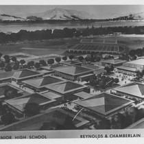 Architect's drawing of proposed Cotati (California) Senior High School, ca. 1960