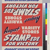 August Variety Stores Stampede For Victory: Choose your weapons win the war ...