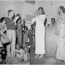 Maya Angelou and Cecil Williams at Glide Memorial Church, Sunday, July 14, ...