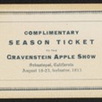 Gravenstein Apple Show complimentary season ticket