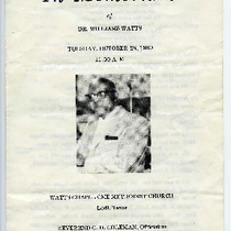 William Watts funeral program