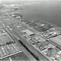 Aerial View of Rohr Aircraft Corporation and Western Salt Works