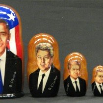 The Five Most Recent Democratic Presidents Nesting Dolls