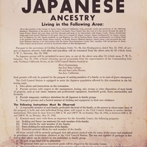 Exclusion Order for San Jose Japanese Internment, 1942