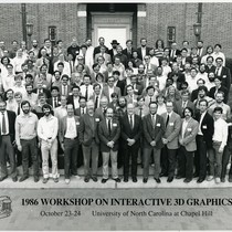 1986 Workshop on Interactive 3D Graphics participants