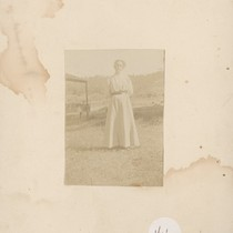 Photo of Alice Chase Dudley's Mother at Mt. Bullion ?