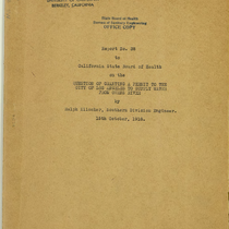 Question of granting a permit to the City of Los Angeles to ...