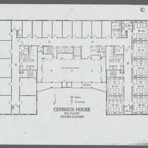 Floor Plan of the Cermack House, fourth floor
