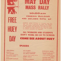 Come See About Huey, May Day Mass Rally, flier