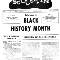 Black Bulletin: Black History Month (front page)