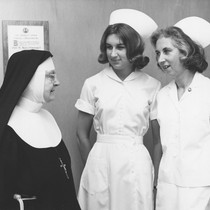 Sister M. Agnes, Suzanne Groshong, and Helen Groshong