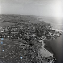Aerial view of Corona Del Mar, Newport Beach, California: Photograph