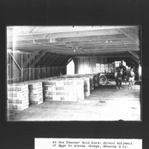 At the Steamer Gold dock direct shipment of eggs to Alaska by ...