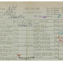 WPA bock face card for household census (block 2145) in Los Angeles ...
