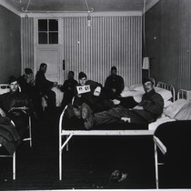 Surgical ward, German war prisoners, Royat Palace