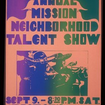 3rd Annual Mission Neighborhood Talent Show, Announcement Poster for
