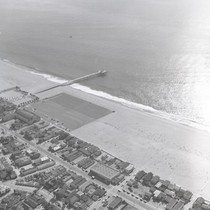 Aerial view of Balboa Pier, Newport Beach, California: Photograph