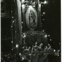 [An altar for the Virgin of Guadalupe]