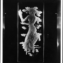 Academy Theatre, Inglewood, etched glass panel