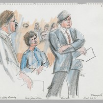 9/23/75 U.S. Attorney James Browning, Sara Jane Moore, Defense Attorney James Hewitt