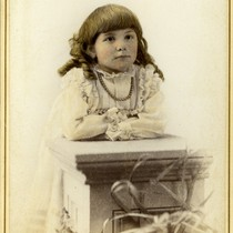 Portrait of April at four years old
