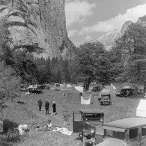 Camping in Stoneman Meadow, Yosemite, 1927