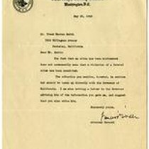Correspondence from the Attorney General to Frank Herron Smith May 30, 1945