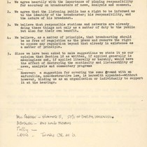 Bill Henry's suggestion to the committee of the Radio Correspondents