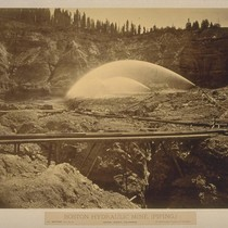 Boston Hydraulic Mine (Piping), Nevada County, California