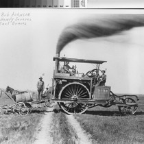Photograph of farm equipment in Pleasant Grove (Calif.)