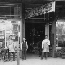 Joseph Backs Furniture Store and Mortuary, Anaheim [graphic]